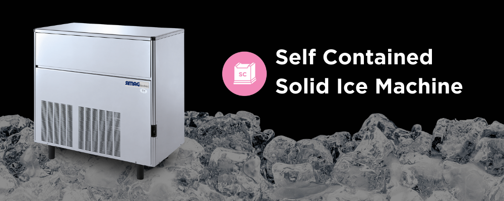 Ice Maker Machine Self-Contained Solid Cube Ice