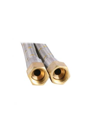 Gas Hose - 10mm Stainless Steel - 450mm
