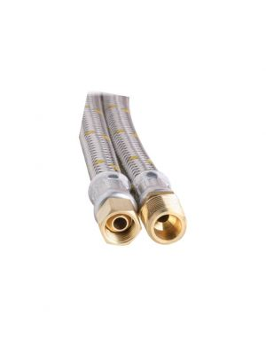 Gas Hose - 10mm Stainless Steel - 1000mm