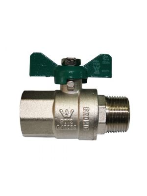 "Ball Valve Male x Female RC 3/4"" x R 3/4"" T Handle"