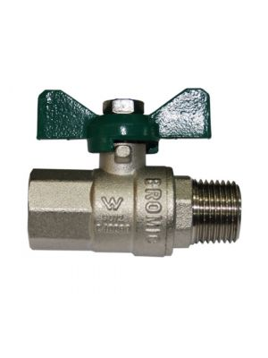 "Ball Valve Male x Female RC 1/2"" x R 1/2"" T Handle"