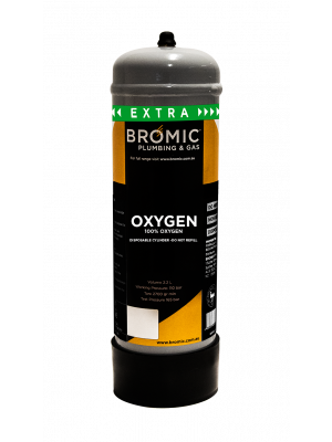 Bromic 2.2L Oxygen Disposable Cylinder
