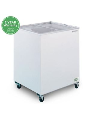 CF0200FTFG Flat Glass Top 191L Display Chest Freezer