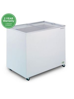CF0300FTFG Flat Glass Top 296L Display Chest Freezer