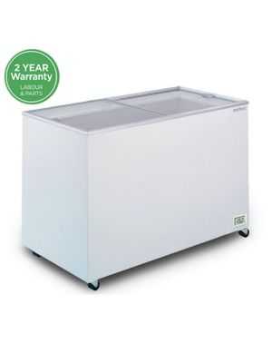 CF0400FTFG Flat Glass Top 401L Display Chest Freezer