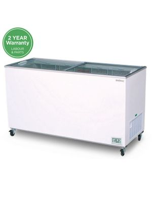 CF0500FTFG Flat Glass Top 491L Display Chest Freezer