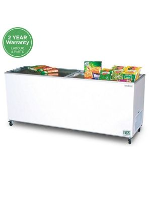 CF0700FTFG Flat Glass Top 670L Display Chest Freezer
