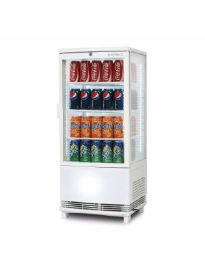 CT0080G4WC Curved Glass 82L LED Countertop Beverage Chiller