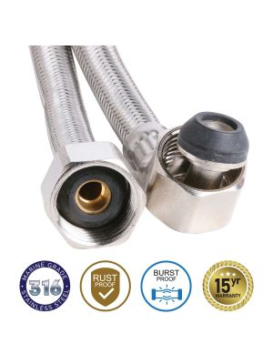 8mm SS PEX PRO 316 Water Hose Elbow Connector 600mm