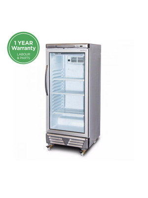 Upright Display Fridge Flat Glass 215L GM0220