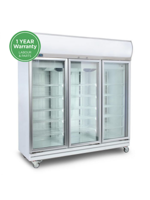 GD1500LF Flat Glass Door 1507L LED Upright Display Chiller