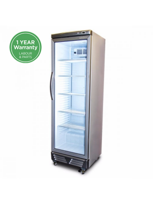 GM0374 LED ECO Flat Glass Door 372L Upright Display Chiller