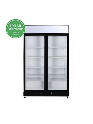 GM1000LBECO | Flat Glass Door LED Upright Display Eco Chiller