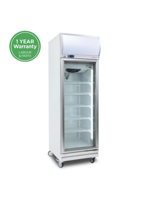 GD0500LF Flat Glass Door 444L LED Upright Display Chiller