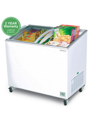CF0300ATCG Angled Glass Top 264L Display Chest Freezer