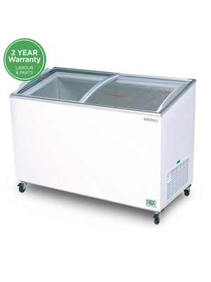 CF0500ATCG Angled Glass Top 427L Display Chest Freezer