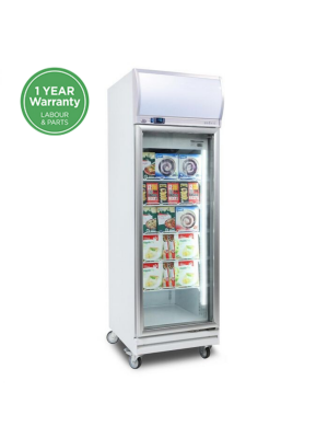 UF0500LF Flat Glass 444L LED Upright Display Freezer