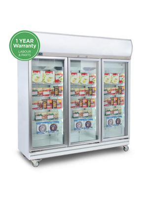 UF1500LF Flat Glass Door 1507L LED Upright Display Freezer