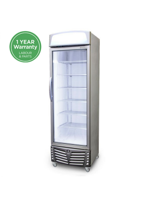 Upright Display Freezer with Lightbox LED Flat Glass Door 440L UF0440LS