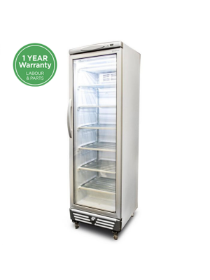 UF0374S LED Flat Glass Door 300L Upright Display Freezer