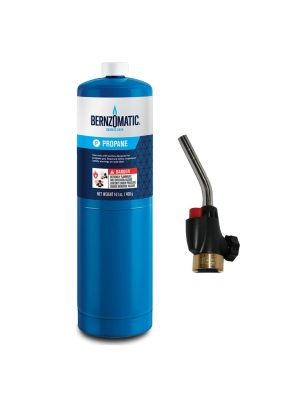 Bernzomatic Webbed Flame Trigger Start Torch and Propane Kit