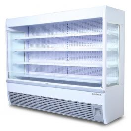 White Eco 2555l Open Display Fridge With Led Bromic