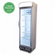 GM0374L LED ECO Flat Glass Door 372L Upright Display Chiller with Lightbox