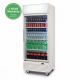 GM0660LW LED ECO Flat Glass Door 660L Upright Display Chiller with Lightbox (White)
