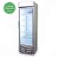 GM0440L LED Flat Glass Door 438L Upright Display Chiller with Lightbox